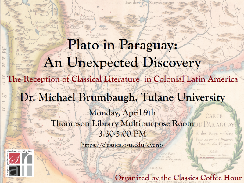 Poster for Plato in Paraguay Talk