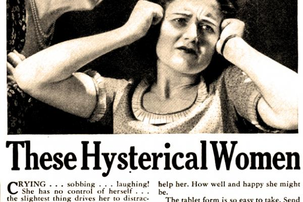 image of hysterial women